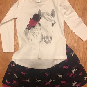 Little girl horse outfit